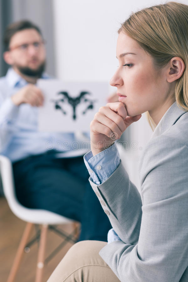 Time to find the answer to a question from therapist stock image