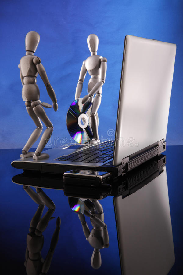 Download Time To Fix It, Give Me That CD. Stock Image - Image of desk, upgrading: 9593653