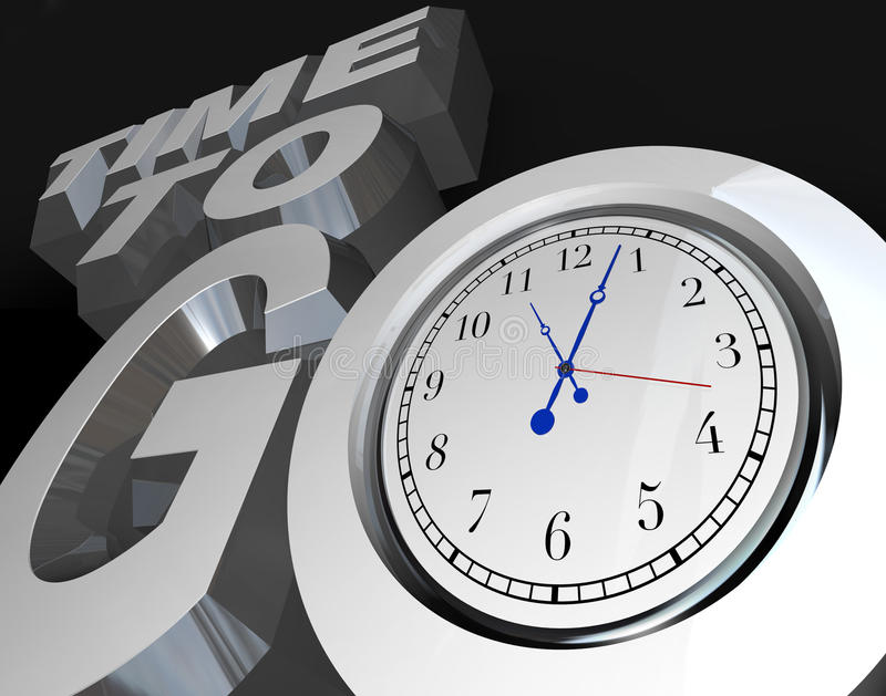 Time to Go 3D Words Clock Counting Down to Start