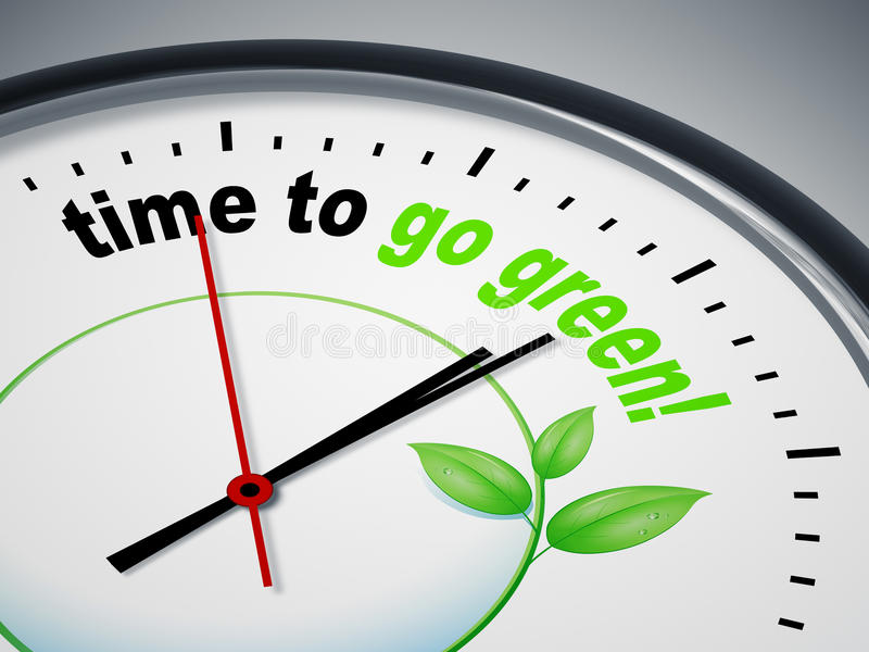 Time to go green vector illustration