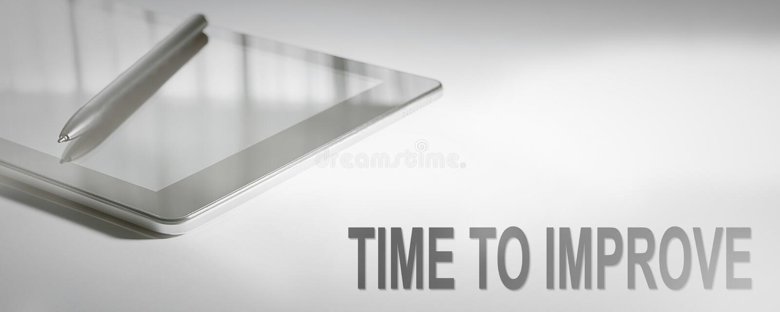 TIME TO IMPROVE Business Concept Digital Technology. Graphic Concept stock photography