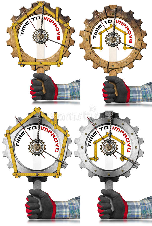 Time to Improve - Home Improvement Signs stock illustration