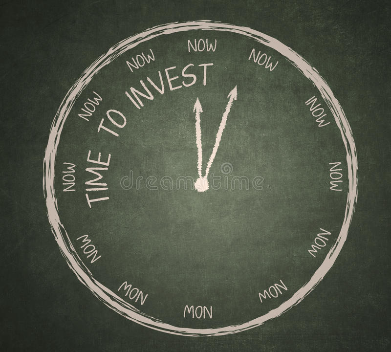 Download Time To Invest On Blackboard Stock Illustration - Image: 31018902