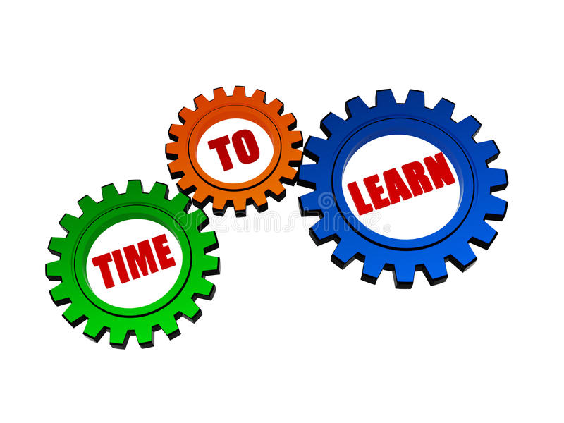Download Time To Learn In Color Gears Stock Photo - Image: 30081924