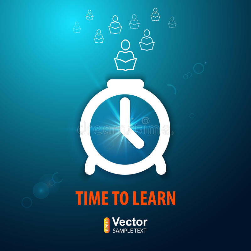 Time to learn. And vector illustration royalty free illustration