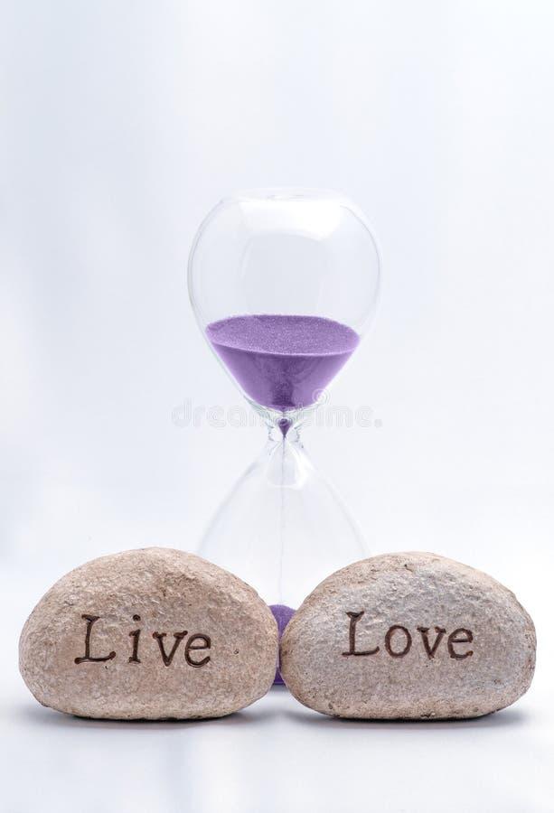 Time to Live ed amore fotografia stock libera da diritti