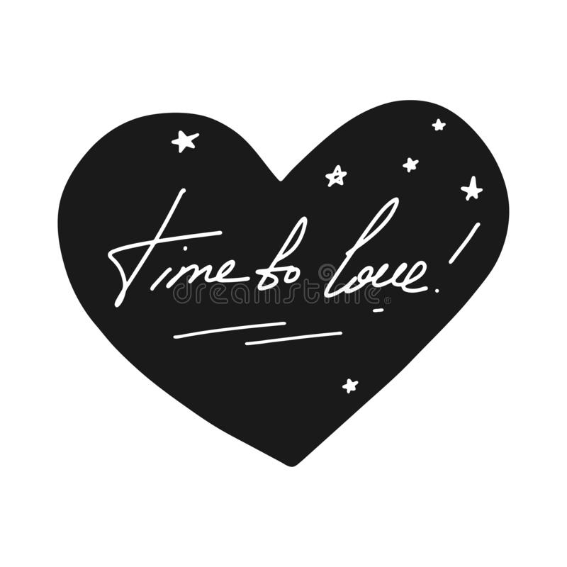 Time to love. Cute cartoon vector illustration vector illustration