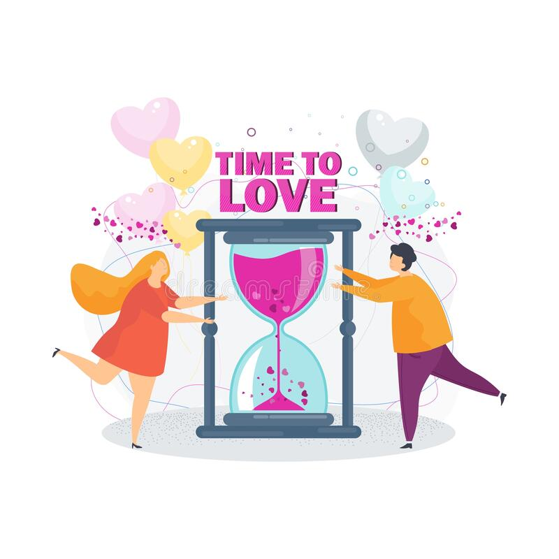 Time to love. A loving couple girl and boyfriend. stock images