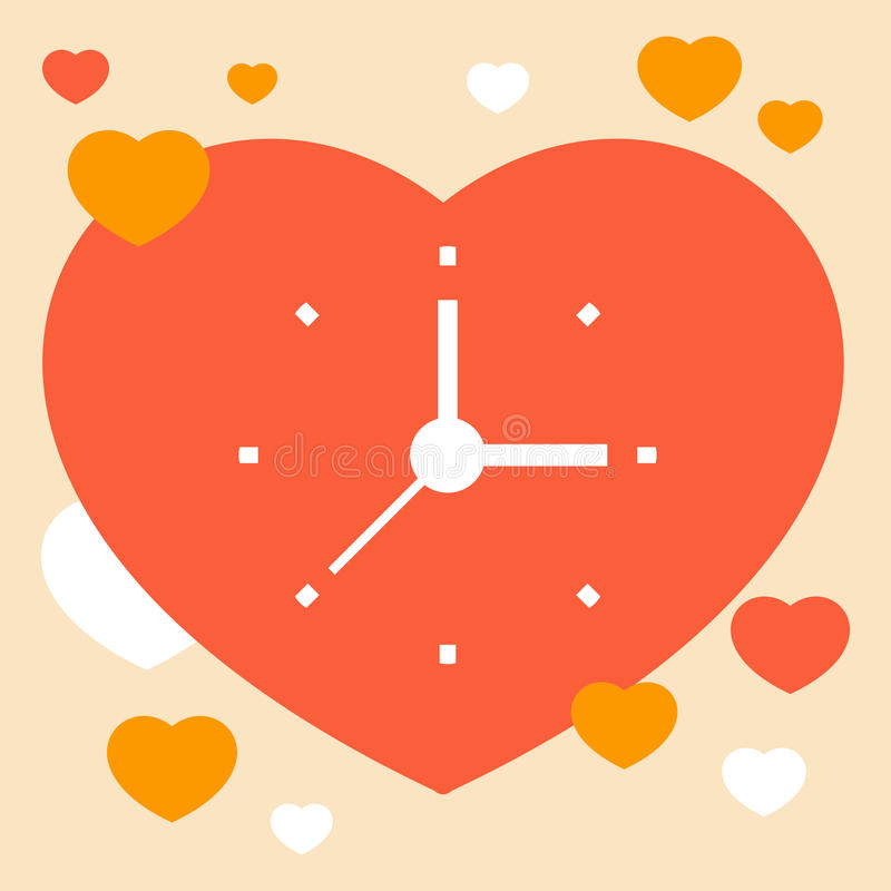 Time to love stock illustration