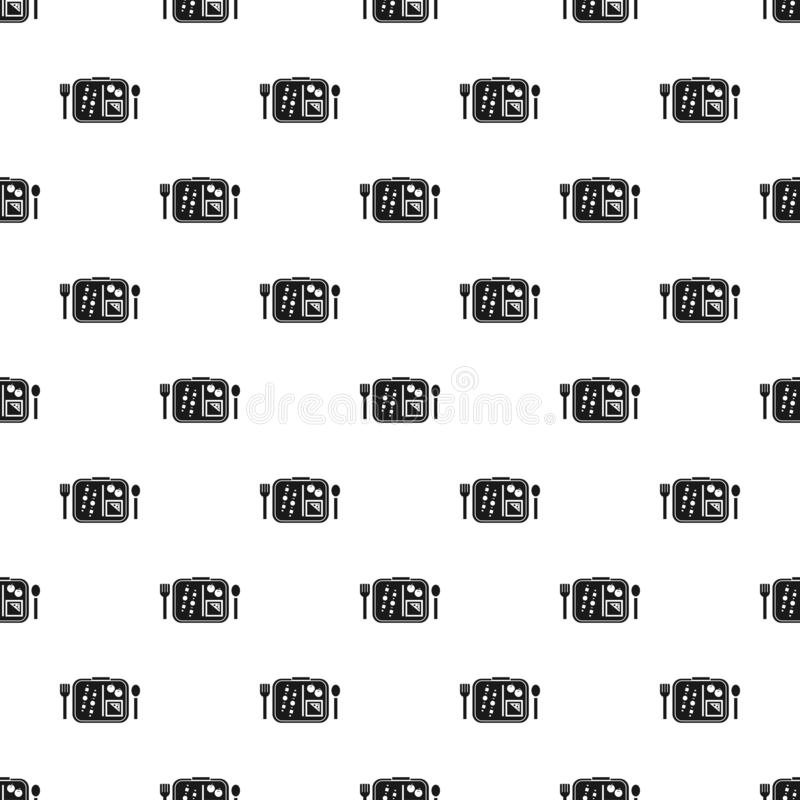Time to lunch pattern seamless vector. Repeat for any web design royalty free illustration