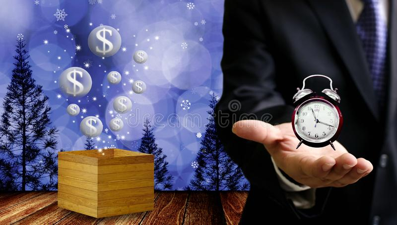 Time to make money in Christmas event stock photo