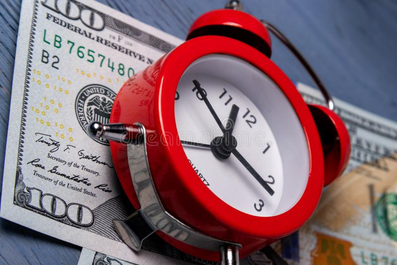 time to make money. The concept of lack of time. stock photos