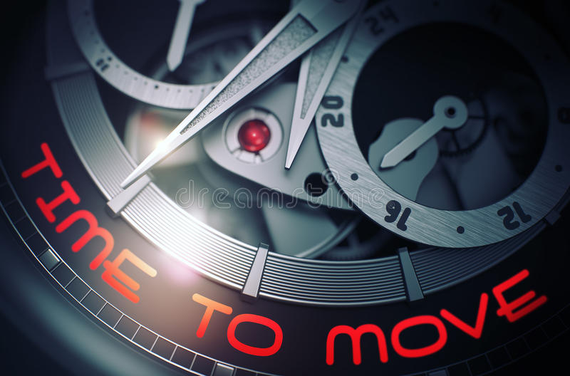Download Time To Move On The Luxury Wristwatch Mechanism. 3D. Stock Illustration - Image: 86680054