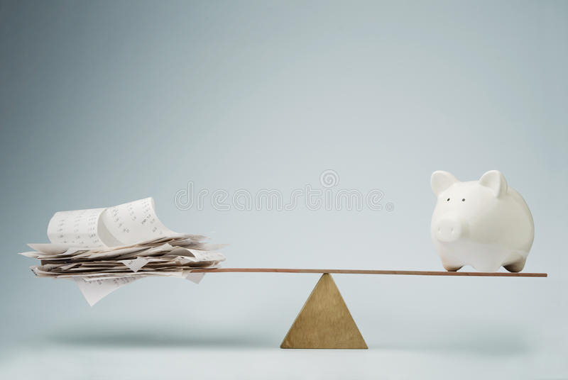 Time to pay the bills royalty free stock image