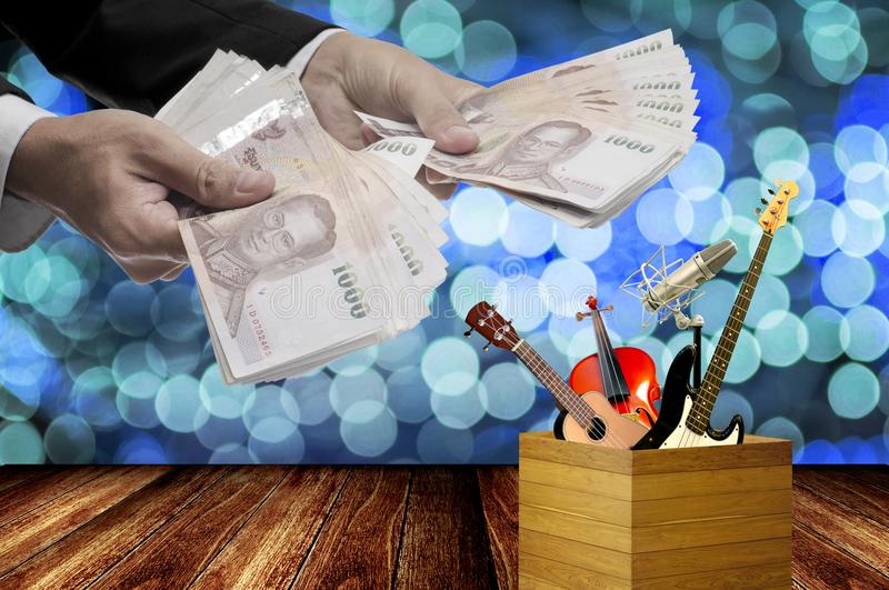 Time to pay for good music royalty free stock photography