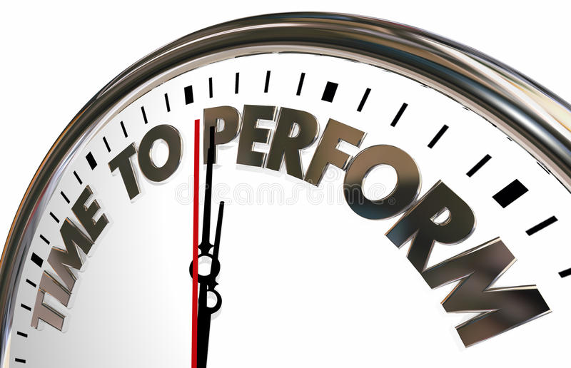 Time to Perform Do Job Clock Words. 3d Illustration vector illustration