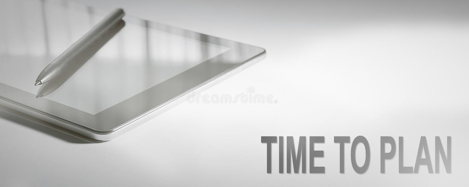 TIME TO PLAN Business Concept Digital Technology. royalty free stock images