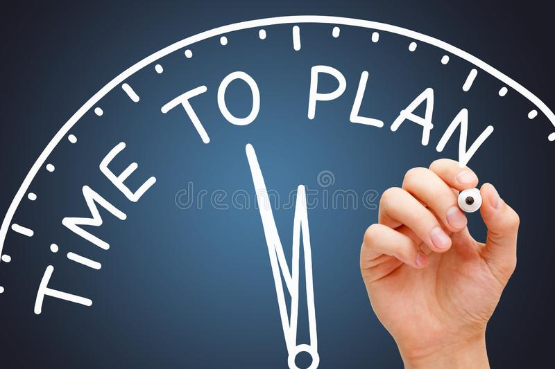 Time To Plan Clock Business Concept royalty free stock photo