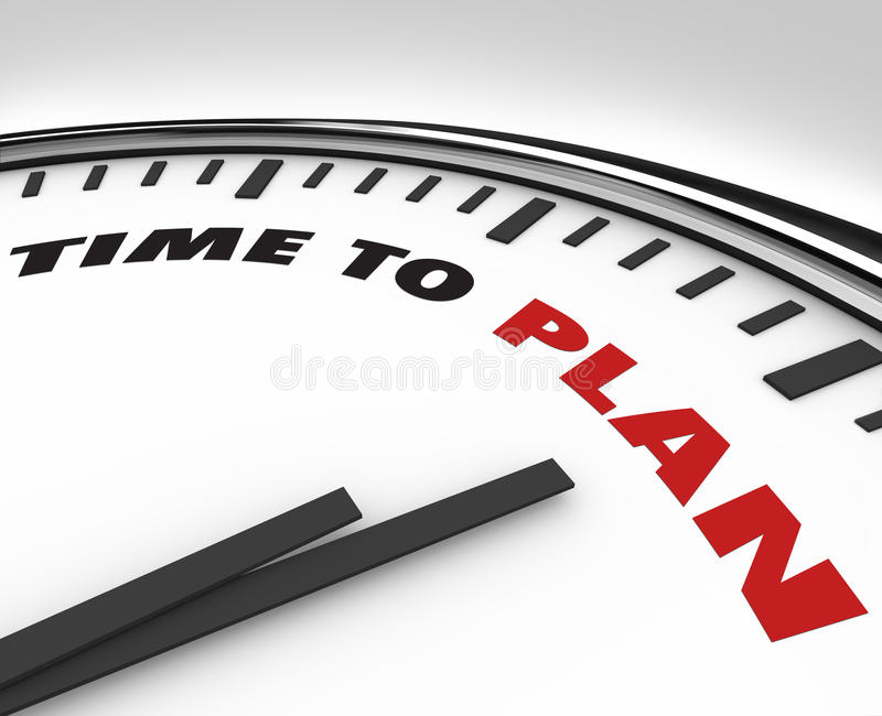Download Time To Plan - Clock With Words Stock Illustration - Illustration: 18340674
