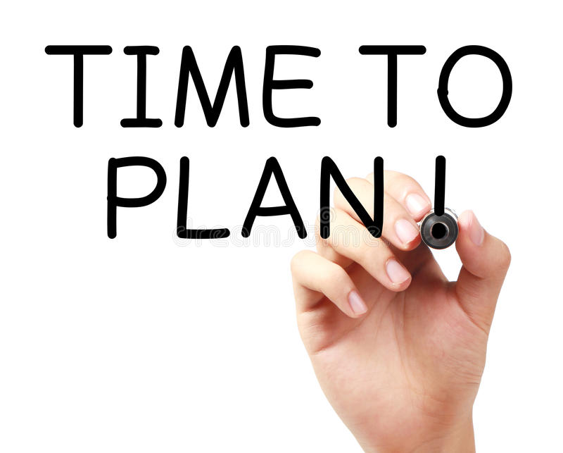 Time To Plan stock image