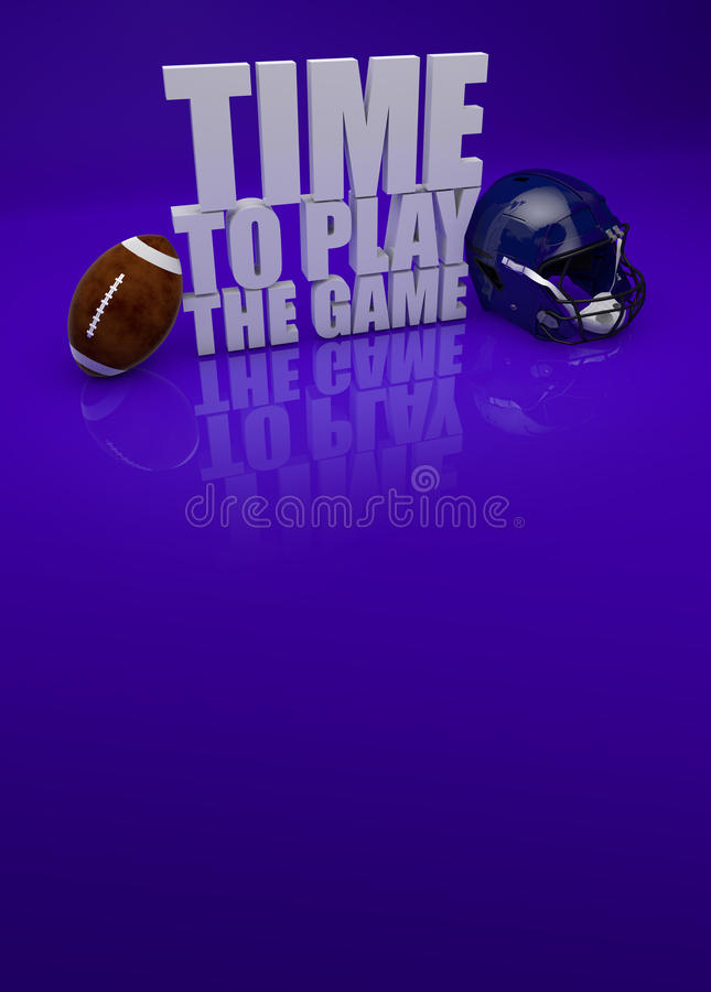 Free Time To Play Game - American Football 3D Text Royalty Free Stock Photo - 33148635