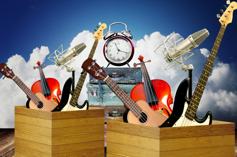 Time to play music royalty free stock image
