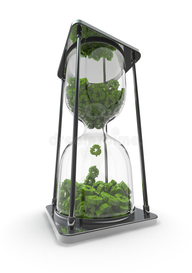 Time to recycle vector illustration