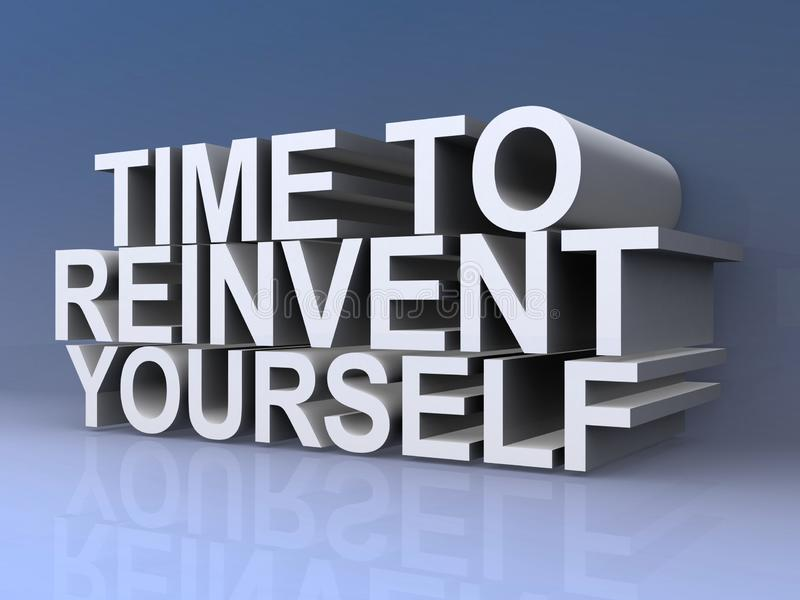 Time to reinvent yourself vector illustration