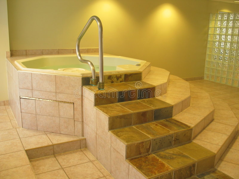 Time to relax. Shot of a hot-tub / Jacuzzi royalty free stock photos