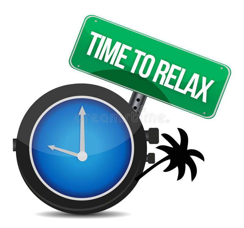 Download Time to relax concept stock illustration. Image of relax - 28131867