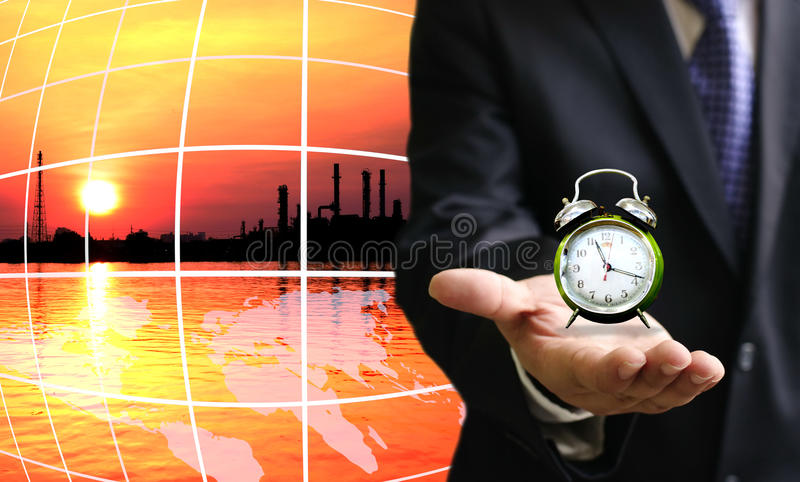 Time to save energy. For safe the world royalty free stock images