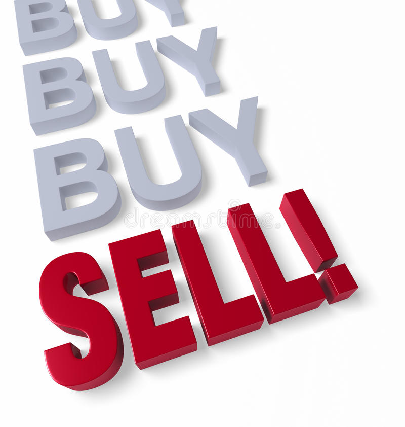 Download Time to Sell stock illustration. Illustration of decision - 33850989