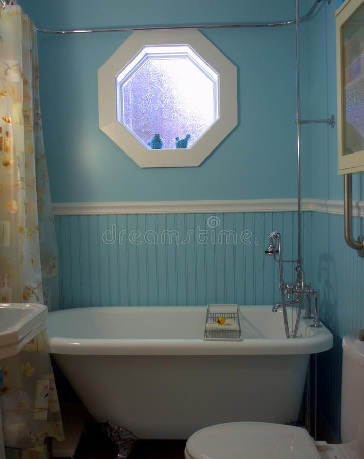 Time to soak in this beautiful victorian styled bathroom. stock image