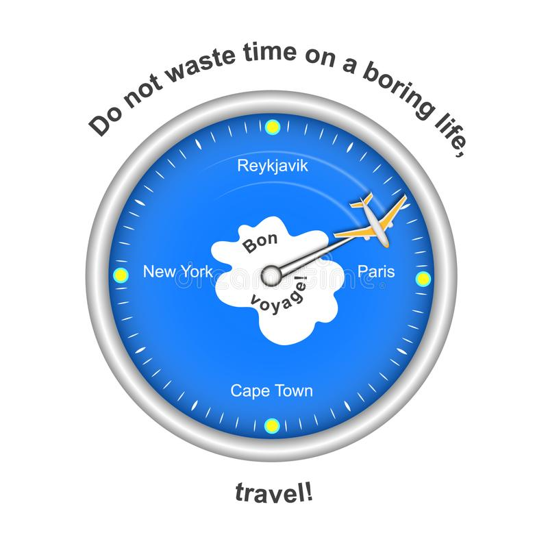 Time to travel. Travel board isolated on white background with an inscription. Vector vector illustration