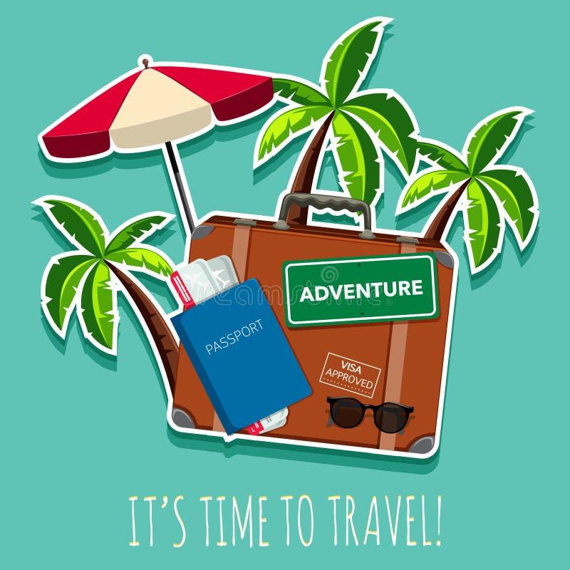 Time to travel icon stock illustration