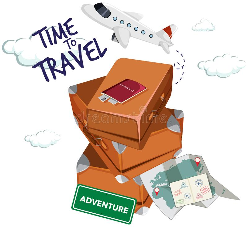 Time to travel icon stock illustration