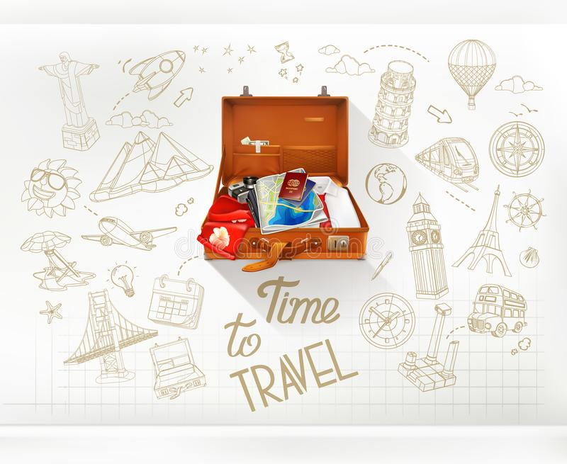 Time to Travel, vector. Time to Travel, infographics vector vector illustration