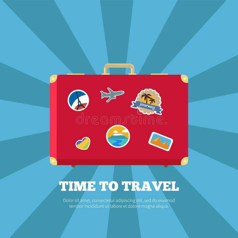 Time to Travel Journey Poster Vector Illustration vector illustration