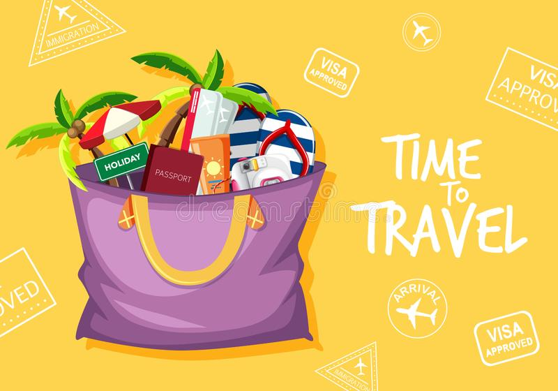 Time to travel logo stock illustration