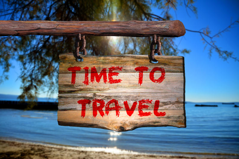 Time to Travel sign stock photography