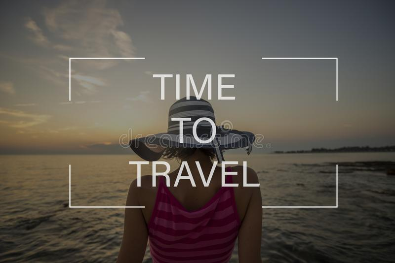 Time to travel sign royalty free stock photography