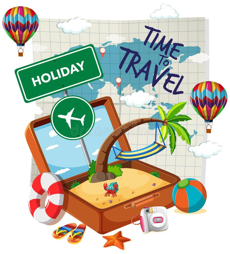 Time to travel template vector illustration