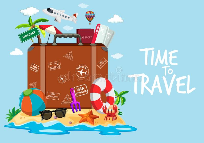 Time to travel template stock illustration