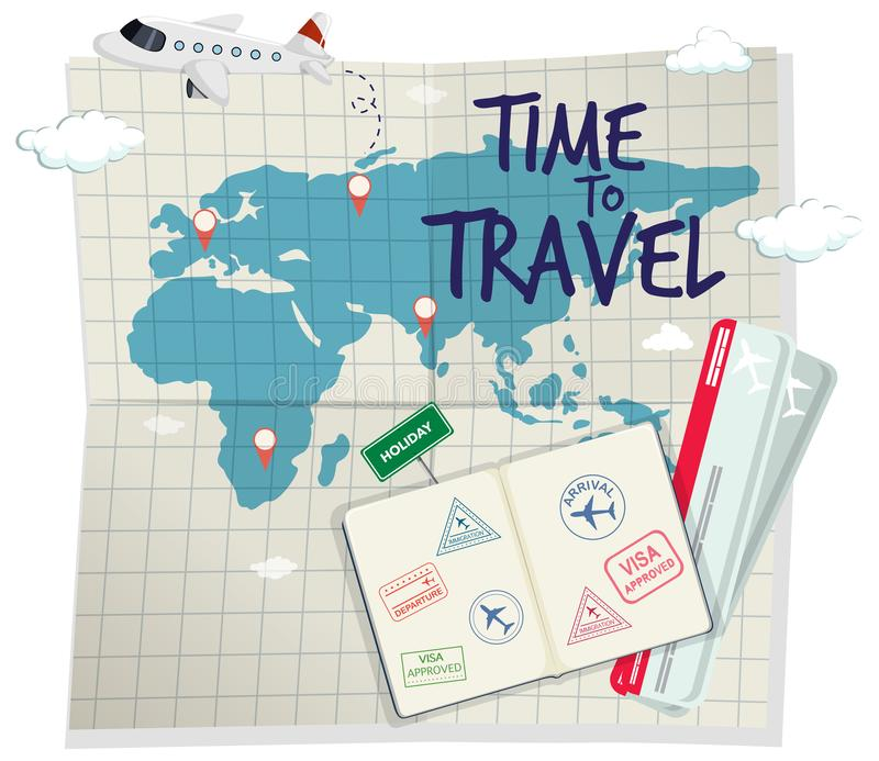 A time to travel template stock illustration