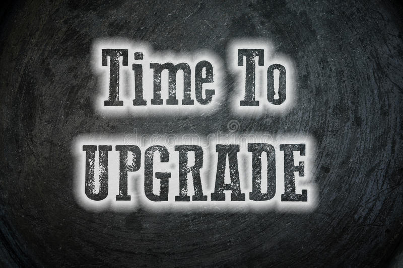 Time To Upgrade Concept stock images