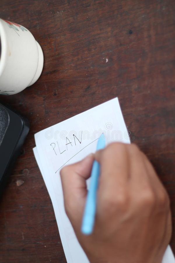 Time to work, version 49 stock photo