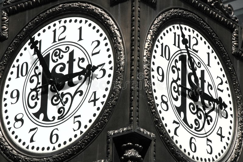 Time is Unstoppable. A unique clock face. Time is Unstoppable stock image