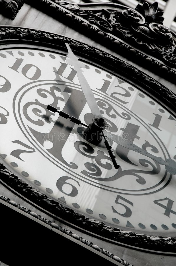Time is Unstoppable. A unique clock face. Time is Unstoppable stock photo