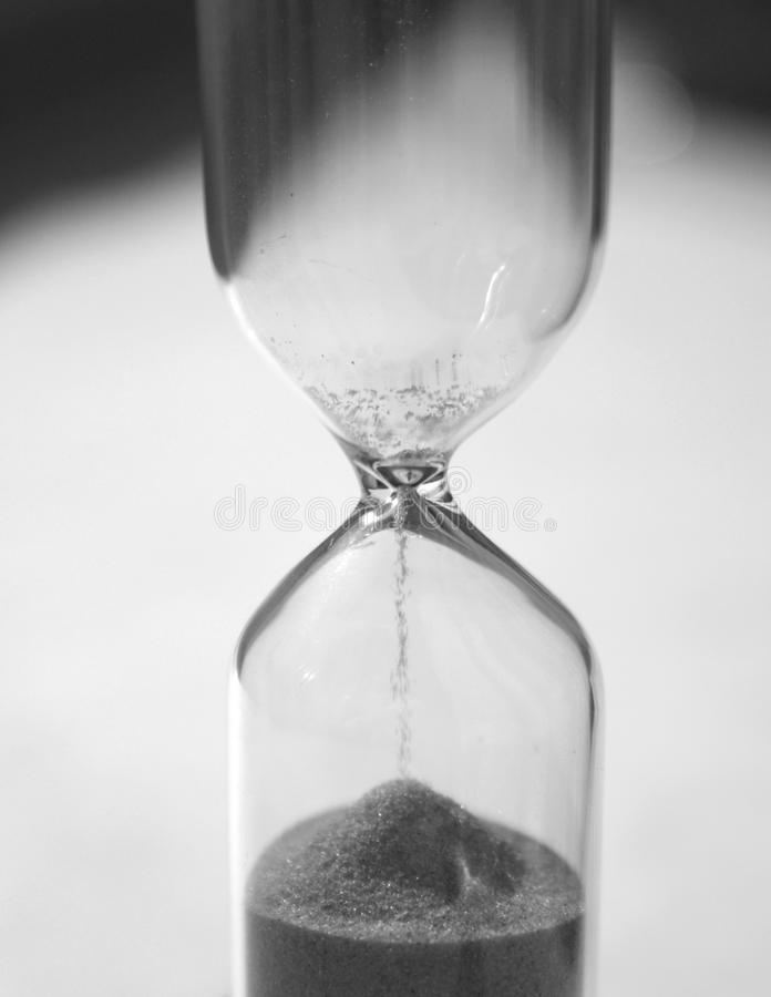 Time is up (black and white) stock photos