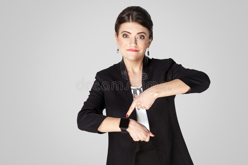 Time is up, don`t have any time royalty free stock image
